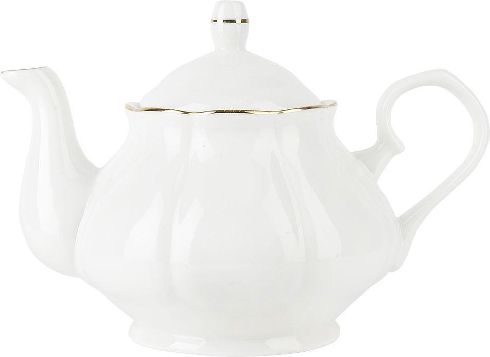 Чайник заварочный Nouvelle Воздушный зефир, 2930086, белый, 950 мл чайный набор 2пр olympia v 220мл золотая обводка фарфор подарочная упаковка