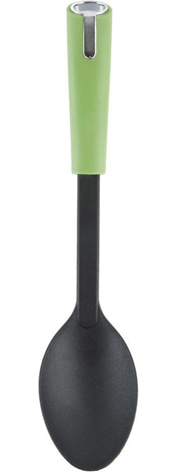 Ложка кулинарная Nouvelle, 4220336, зеленый, длина 32 см ложка кулинарная home kitchen поварская длина 35 см