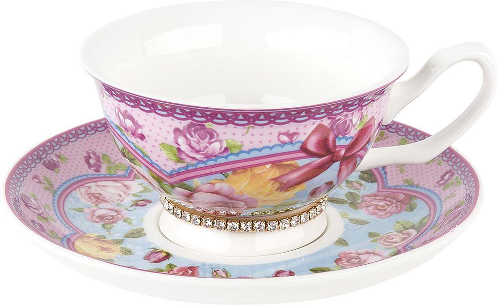 Чайная пара Nouvelle Розовый нектар Кристалл, M0661186-1, розовый, 180 мл чайная пара nouvelle ирис кристалл 180 мл