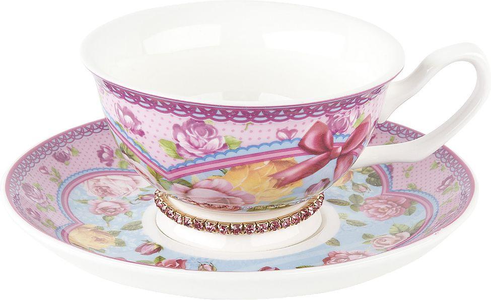 Чайная пара Nouvelle Розовый нектар Топаз, M0661186-2, розовый, 180 мл чайная пара nouvelle ирис кристалл 180 мл