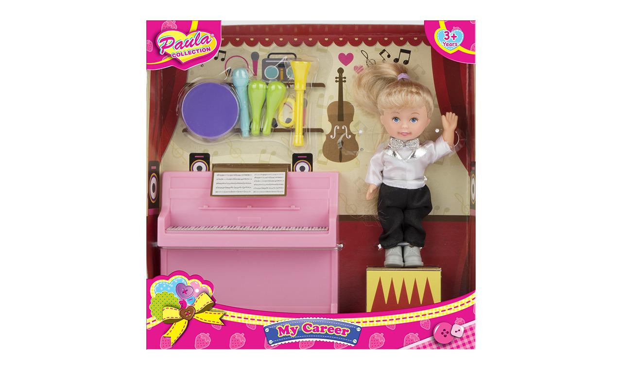 Игровой набор с куклой Paula Я - профессионал, учитель музыки о я левенсон из области музыки