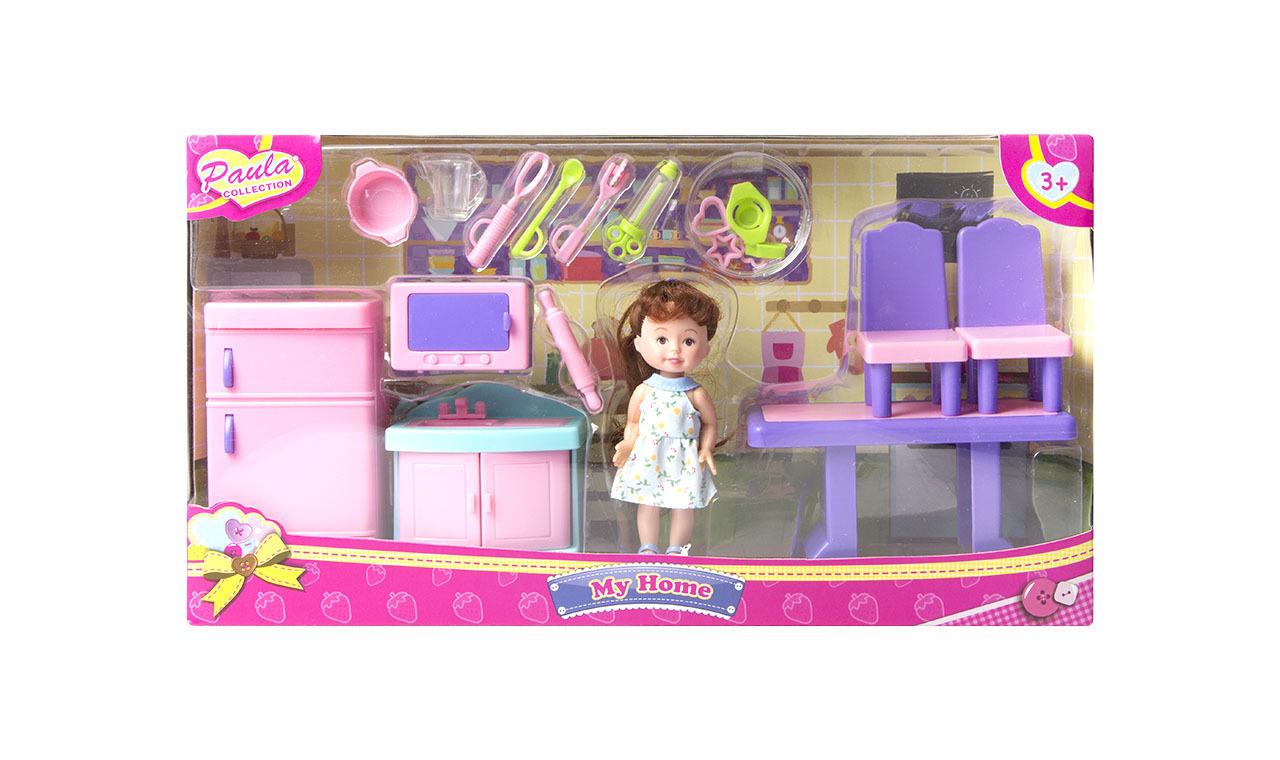 Игровой набор с куклой Paula Мой дом, кухня
