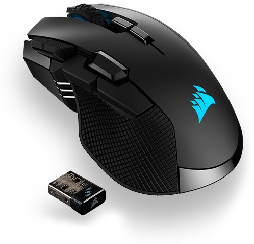 Игровая мышь Corsair Gaming IRONCLAW RGB WIRELESS, Rechargeable Gaming Mouse