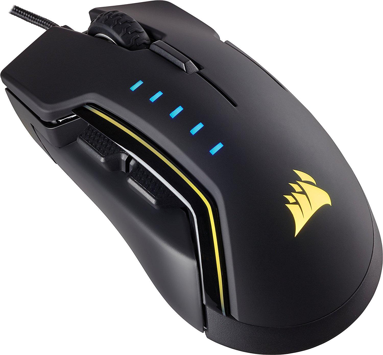 Игровая мышь Corsair Gaming GLAIVE RGB Black Mouse FPS Laser (100-16000 DPI)