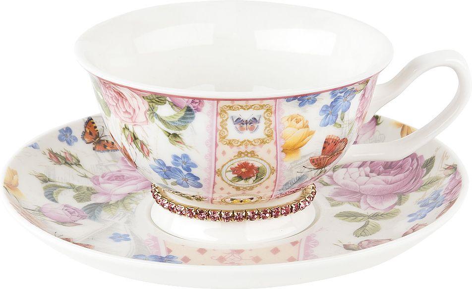 Чайная пара Nouvelle Лето в Европе Изумруд, 0661166-1, разноцветный, 180 мл сахарница лето в европе nouvelle