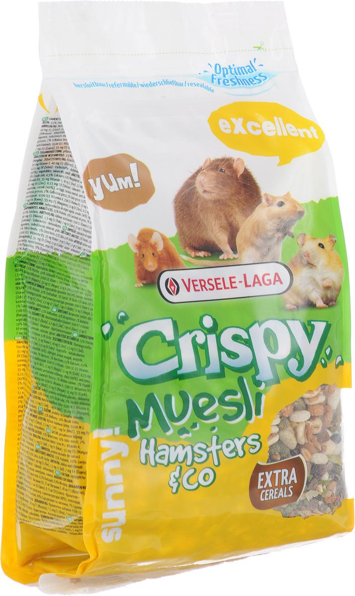 Корм для хомяков и других грызунов Versele-Laga Crispy Muesli Hamsters & Co, 400 г versele laga versele laga корм для морских свинок crispy muesli guinea pigs с витамином с