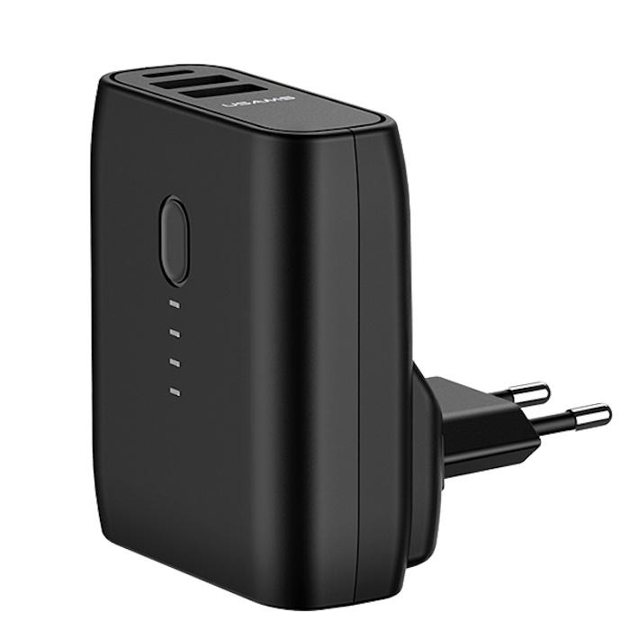 Сетевой адаптер с аккумулятором USAMS US-CD71 PB11 Dual USB EU 5000 мАч