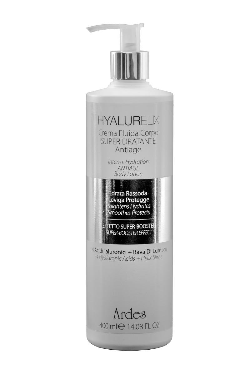 Hyalurelix Crema Fluida Corpo SUPERIDRATANTE Antiage. Гиалуреликс Крем флюид антивозрастной суперувлажнение, 400 мл. Италия