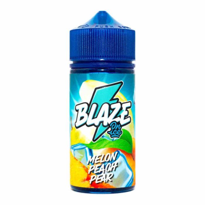 BLAZE ON ICE Melon Peach Pear,Жидкость для вейпа без никотина Нет бренда