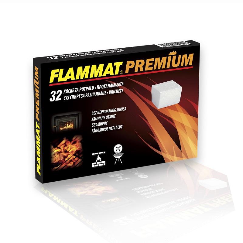 FLAMMAT Premium Кубики для розжига каминов, мангалов и т.д., без неприятного запаха и едкого дыма, 32 шт. брикеты для розжига грилькофф 64 шт