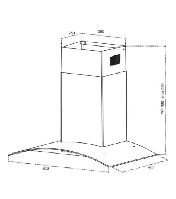 Вытяжка кухонная Germes Alt  (60см,  нерж.  сталь) Germes