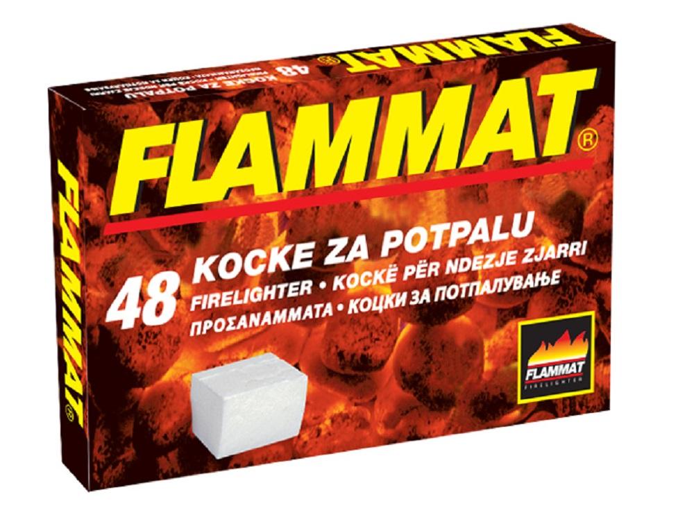 FLAMMAT Кубики на основе керосина для розжига каминов, мангалов и тд, 48 шт. брикеты для розжига грилькофф 64 шт