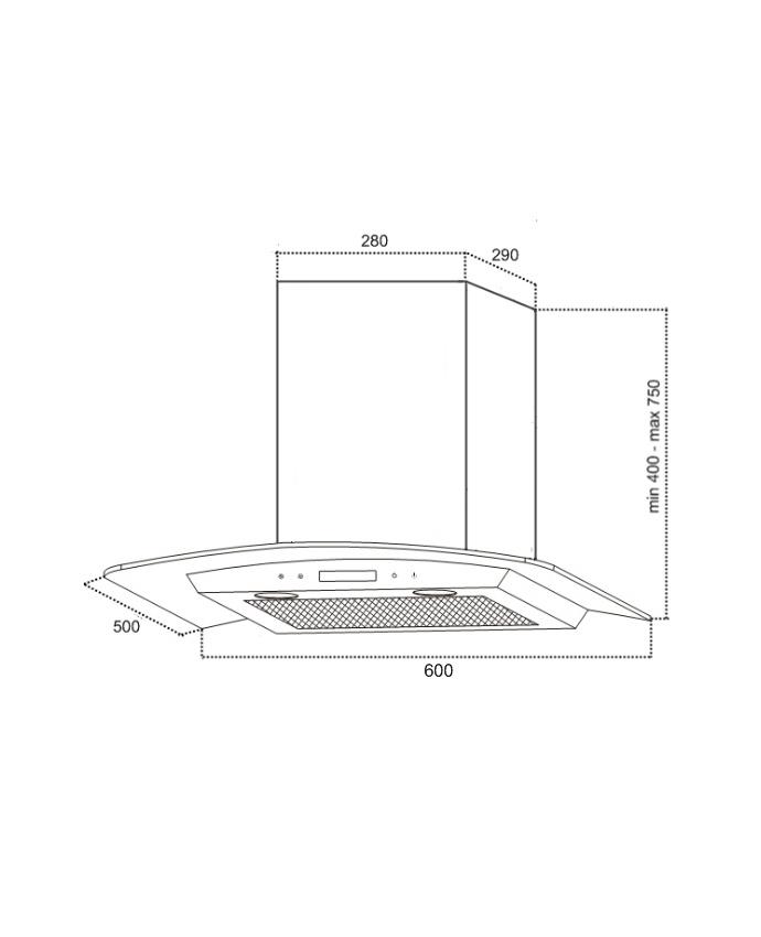 Вытяжка Germes Alt sensor LED (60, черный) Germes