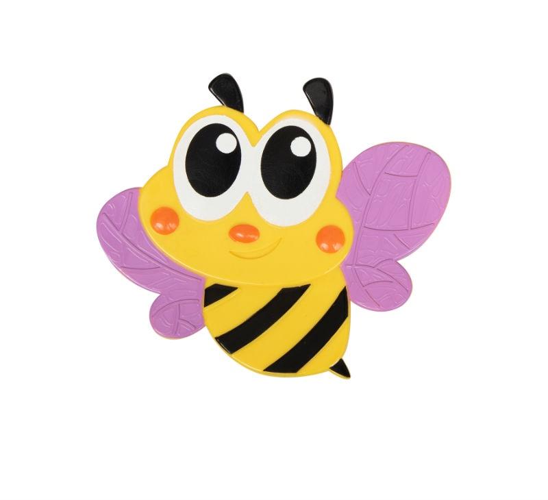 Мини-коврик для ванной комнаты ПЧЁЛКА сиреневый крылья