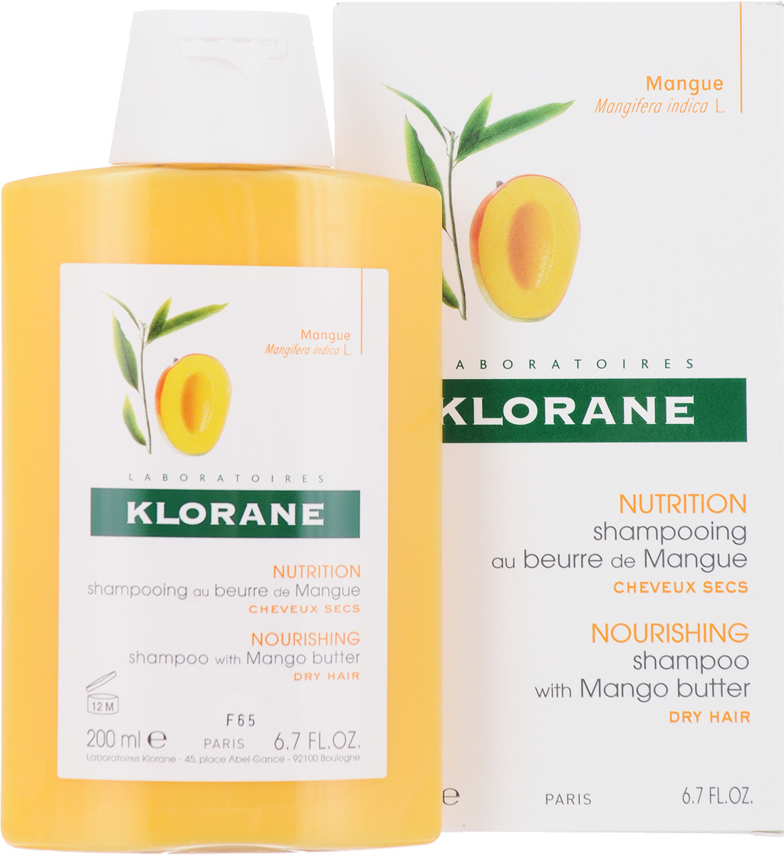 Klorane Dry Hair Шампунь с маслом манго для сухих, поврежденных волос, 200 мл шампунь klorane с маслом манго для сухих и поврежденных волос 200 мл