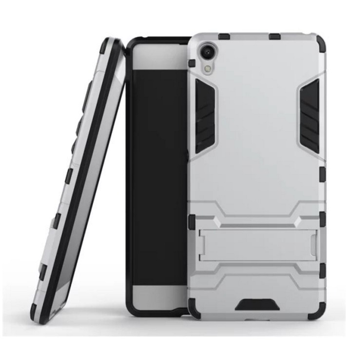 Чехол-бампер MyPads для Sony Xperia C6 / C6 Ultra / XA Ultra Противоударный усиленный ударопрочный серебристый чехол sony sbc34 для xperia xa ultra белый