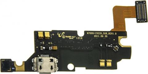 Модуль с разъёмом зарядки и микрофоном для Samsung Galaxy Note i9220/N7000 (оригинал)