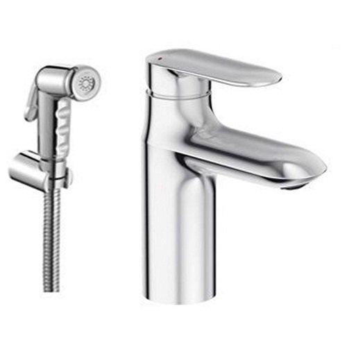 Смеситель для раковины Jacob Delafon KUMIN E99465-CP с гигиеническим душем смеситель для раковины с гигиеническим душем коллекция chanel 35 g1204 однорычажный хром gappo гаппо