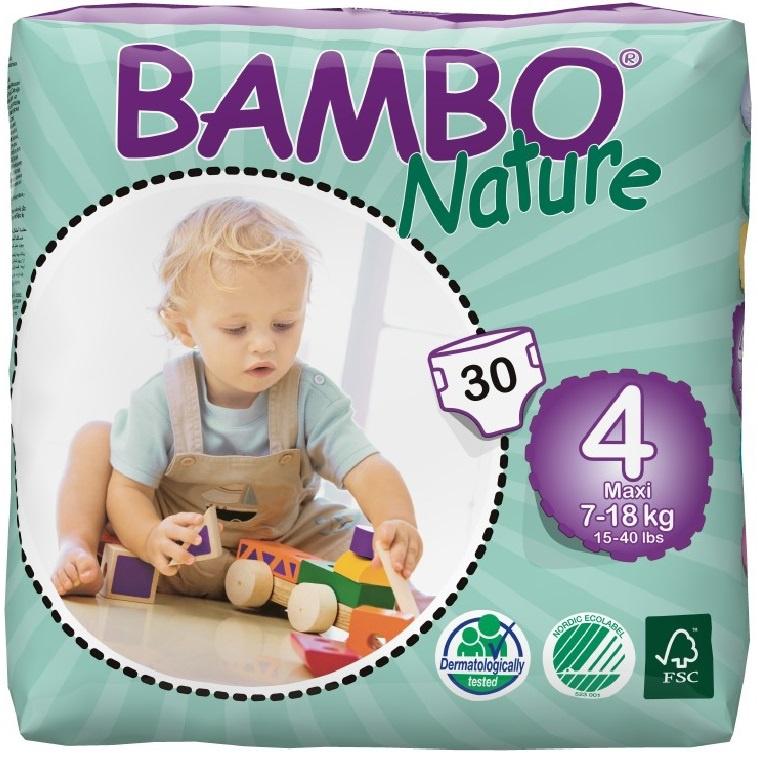 Подгузники Bambo Nature Max 7-18 кг (30 шт)