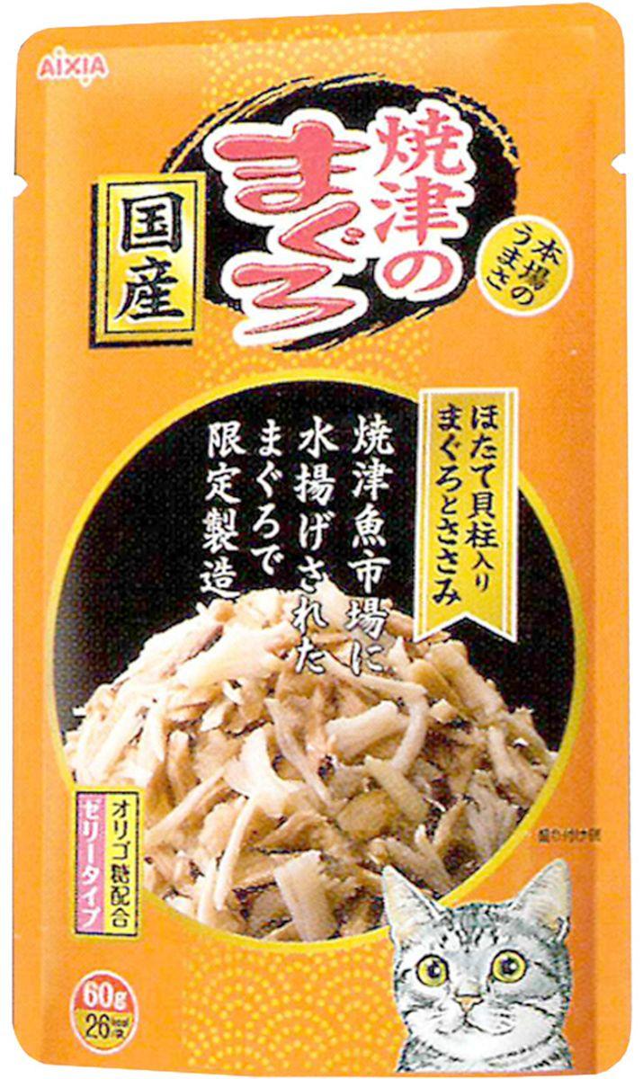 Корм консервированный для кошек Aixia Yaizu-no-Maguro, куриное филе и гребешок в желе, 60 г