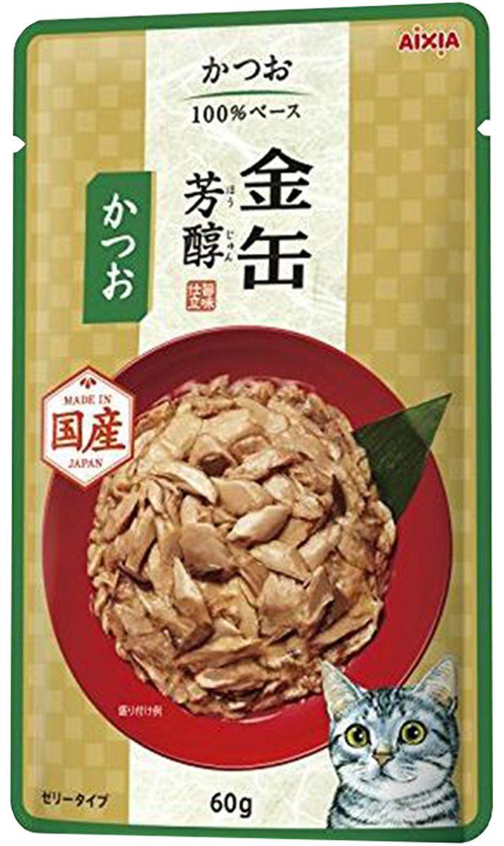Корм консервированный для кошек Aixia Kin-Can Hojyun, полосатый тунец в желе, 60 г