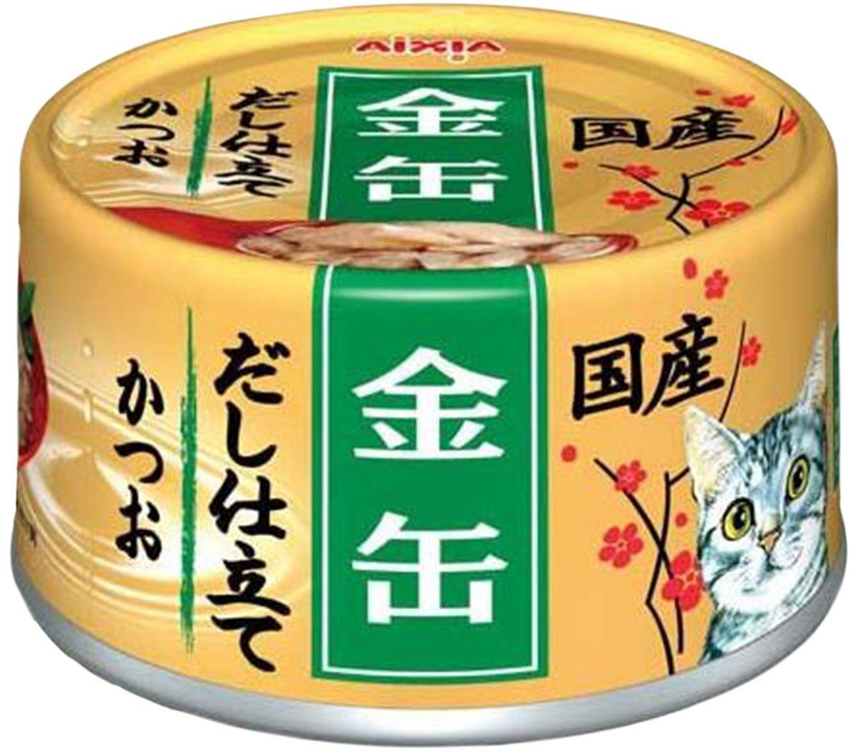 Корм консервированный для кошек Aixia Kin-Can Dashi, полосатый тунец, 70 г
