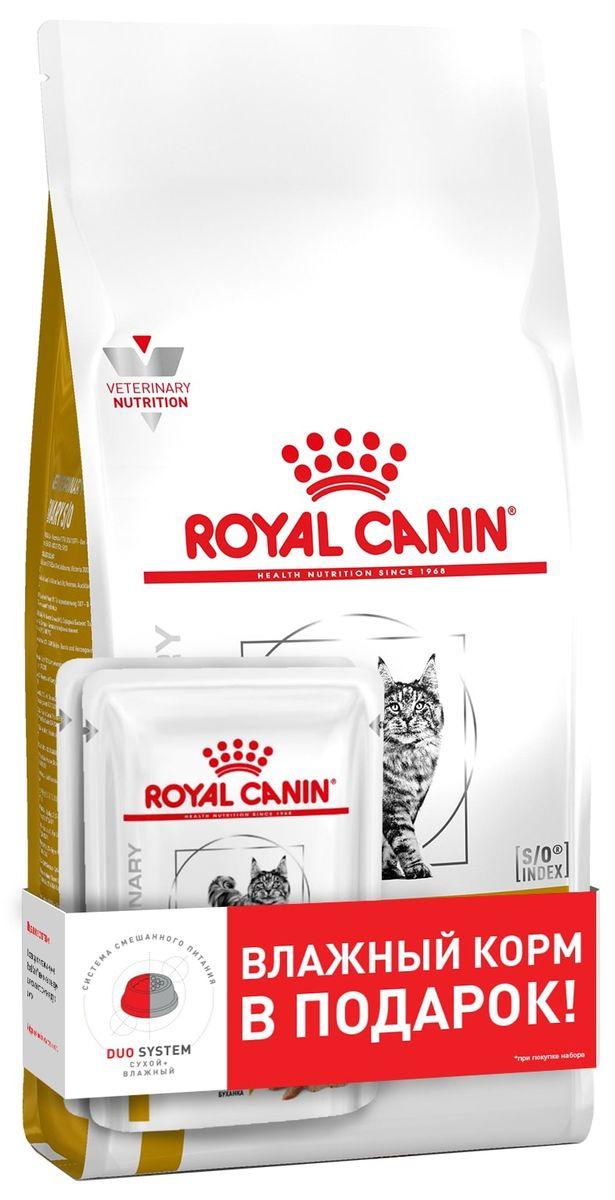 Корм сухой для кошек Royal Canin VD Urinary S/O, 400 г + Пауч 85 г