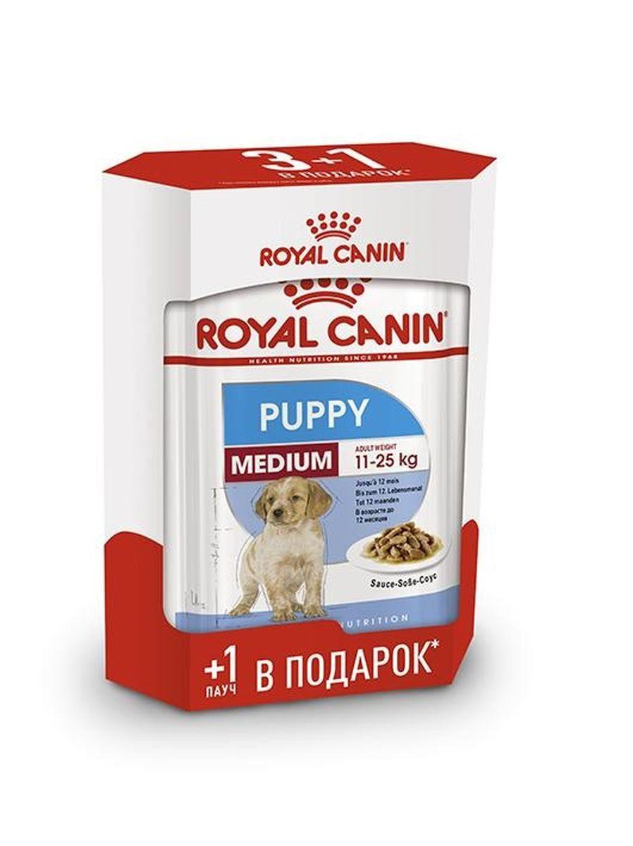 Корм сухой для собак Royal Canin Medium Puppy, 4 шт по 140 г