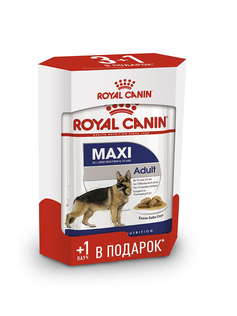 Консервы для собак Royal Canin Maxi Adult, 4 шт по 140 г