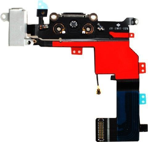 Шлейф для iPhone 5S с разъемами зарядки (Lightning) и аудио (mini-Jack) (белый)
