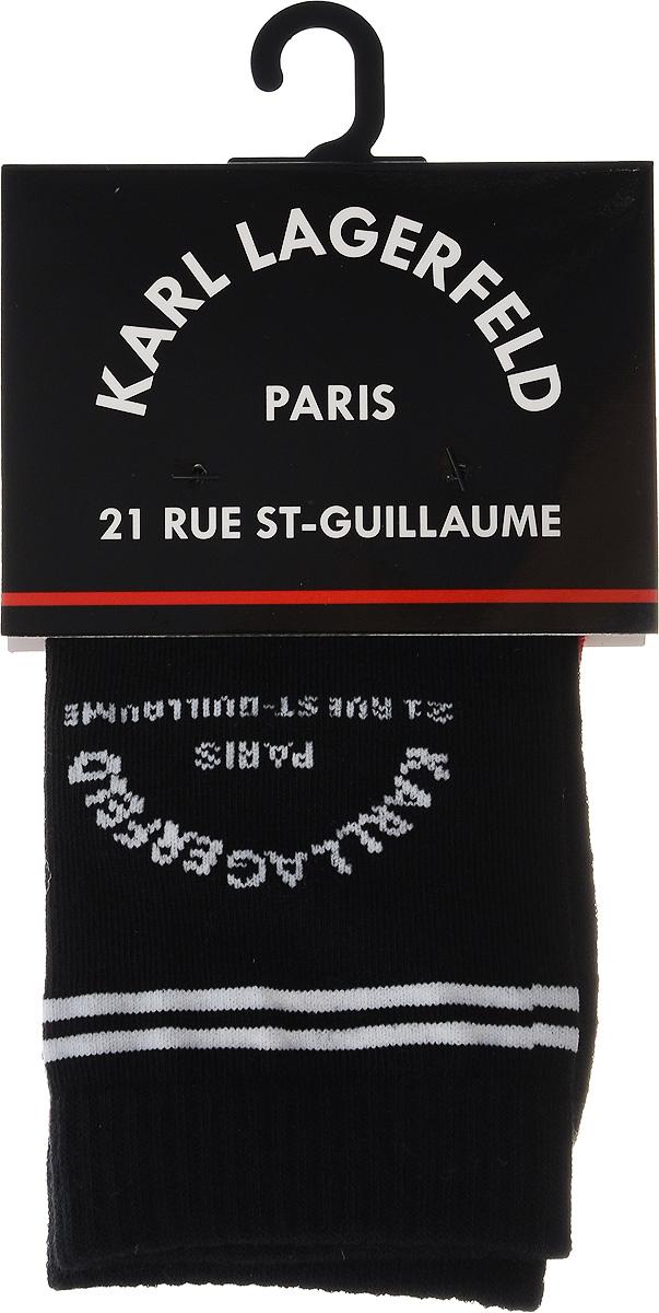 Носки Karl Lagerfeld veneziana doris черные чулки с декором на щиколотке