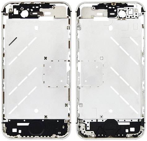Средняя часть корпуса для iPhone 4 (серебристый)