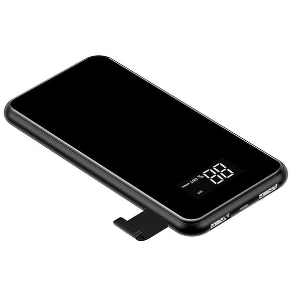 Внешний аккумулятор с беспроводной зарядкой Baseus Full Screen Bracket 8000mAh - Черный