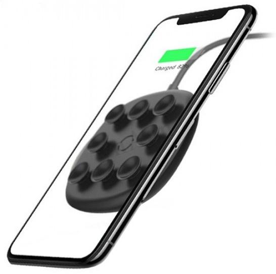 Беспроводная зарядка Baseus Suction Cup - Черная aluminum alloy stylus pen w suction cup for iphone red