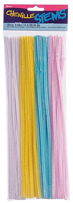 Набор Darice декоративных гибких стебельков для творчества Light Spring Colors (100 шт., 6 мм х 30 см.) набор для творчества 6 поделок