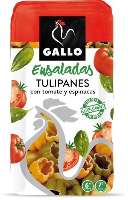 Макароны в форме тюльпанов Gallo (Испания) из твердых сортов пшеницы трехцветные с овощами 250г albert fauvel faune gallo rhenane