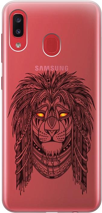 """Ультратонкий силиконовый чехол-накладка для Samsung Galaxy A20 / A30 с 3D принтом """"Grand Leo"""" GOSSO CASES"""