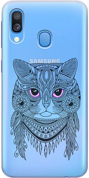 """Ультратонкий силиконовый чехол-накладка для Samsung Galaxy A40 с 3D принтом """"Grand Cat"""" GOSSO CASES"""