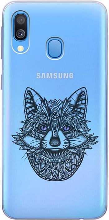 """Ультратонкий силиконовый чехол-накладка для Samsung Galaxy A40 с 3D принтом """"Grand Raccoon"""" GOSSO CASES"""