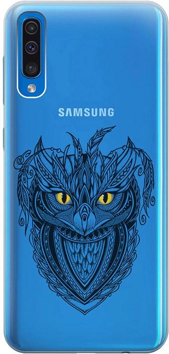 """Ультратонкий силиконовый чехол-накладка для Samsung Galaxy A50 с 3D принтом """"Grand Owl"""" GOSSO CASES"""