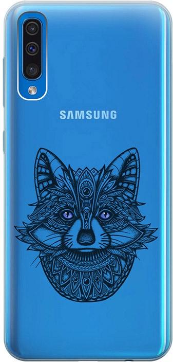 """Ультратонкий силиконовый чехол-накладка для Samsung Galaxy A50 с 3D принтом """"Grand Raccoon"""" GOSSO CASES"""