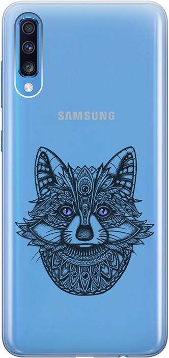 """Ультратонкий силиконовый чехол-накладка для Samsung Galaxy A70 с 3D принтом """"Grand Raccoon"""" GOSSO CASES"""