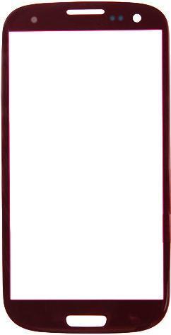 Защитное стекло для Samsung Galaxy S3 (красное)