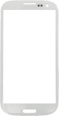 Защитное стекло для Samsung Galaxy S3 (белое)