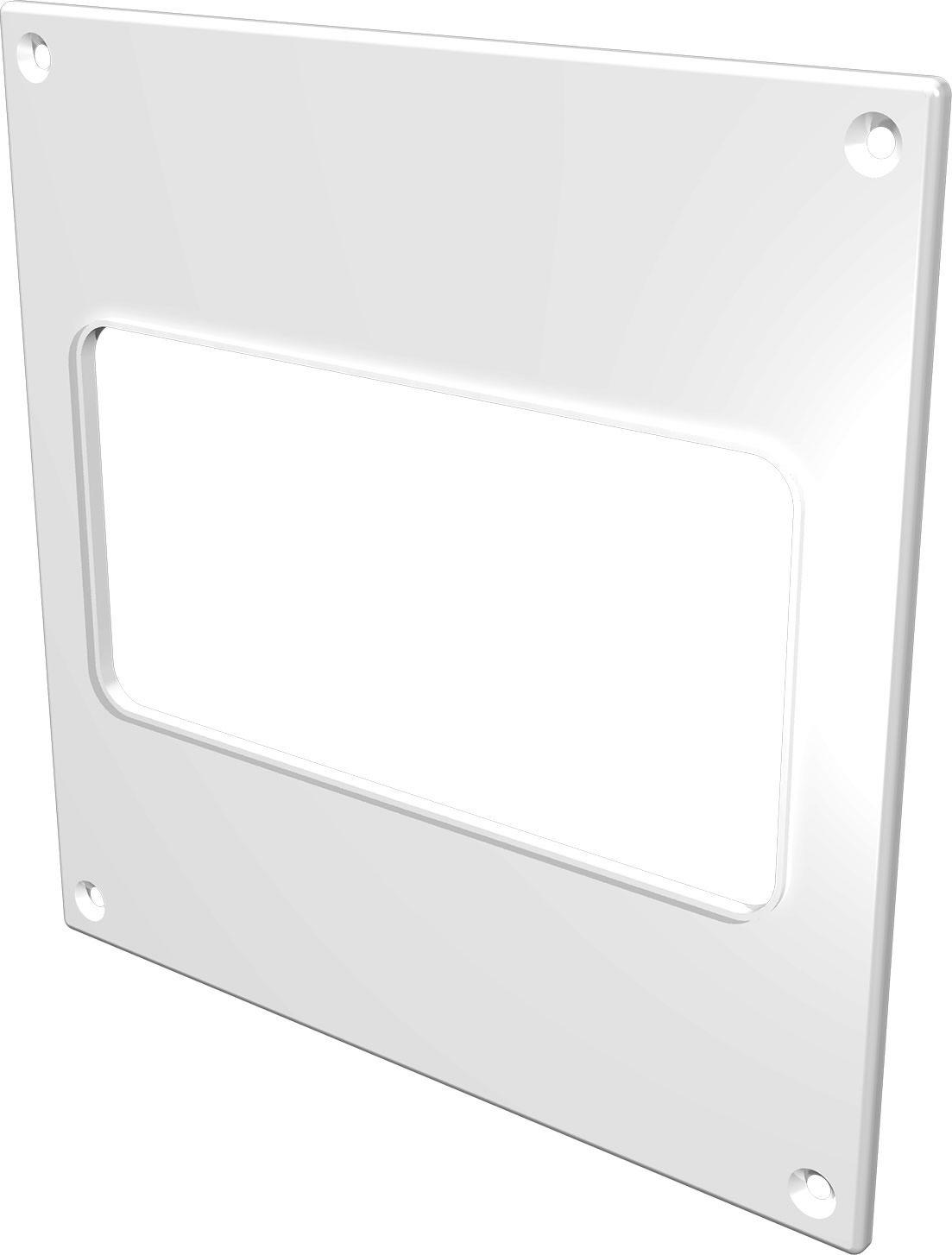 Накладка торцевая ERA, 612НПП, белый, для воздуховода 6 х 12 см накладка торцевая пластик 150х150 для воздуховода d100