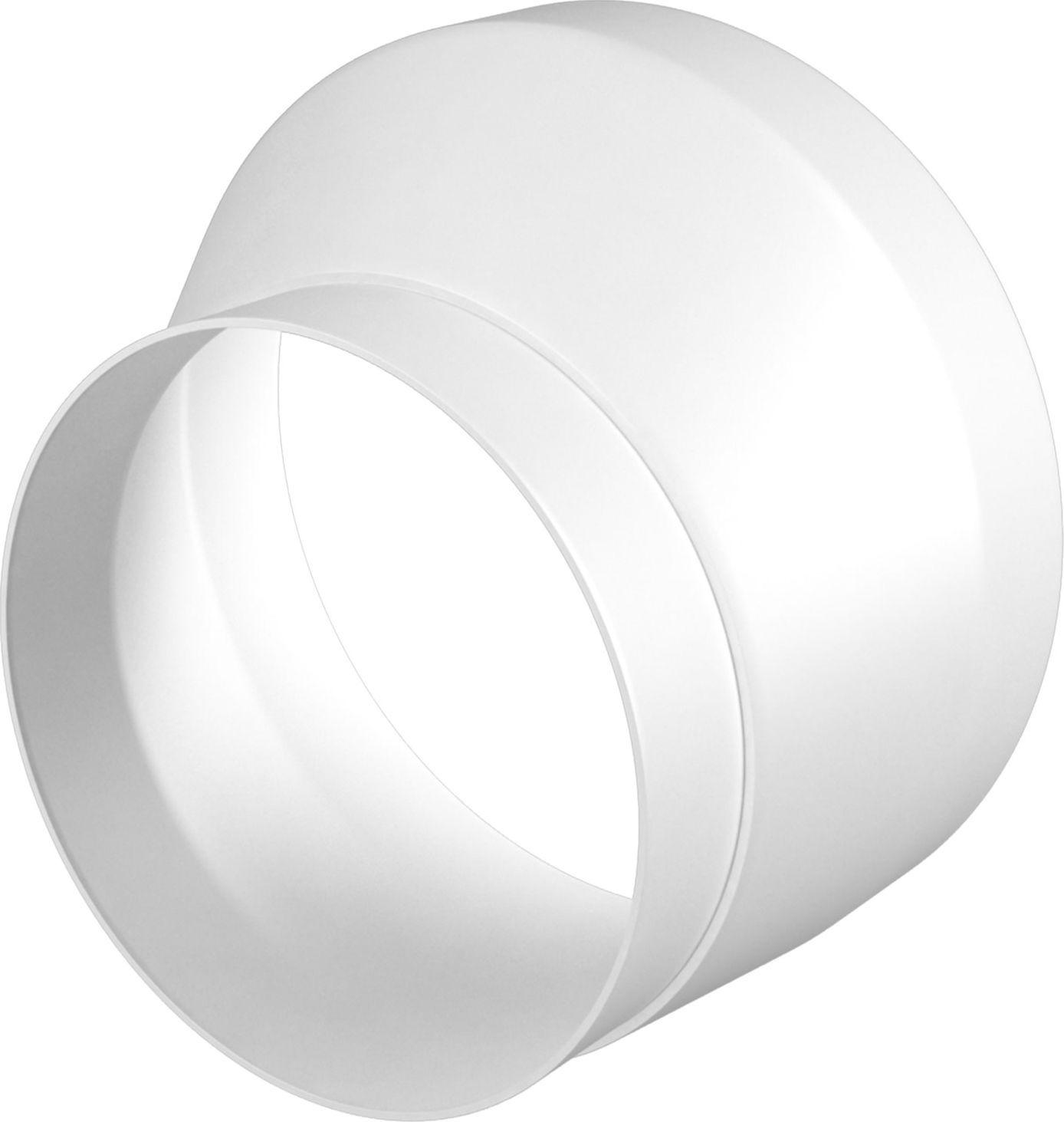 Соединительно-монтажный элемент ERA, 1011РЭП, белый, для круглого воздуховода накладка торцевая пластик 150х150 для воздуховода d100