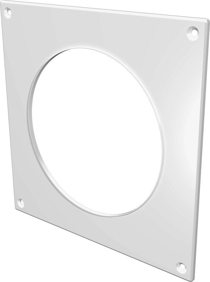 Накладка торцевая ERA, 12,5НКП, белый, для воздуховода, 17 х 17 см накладка торцевая пластик 150х150 для воздуховода d100