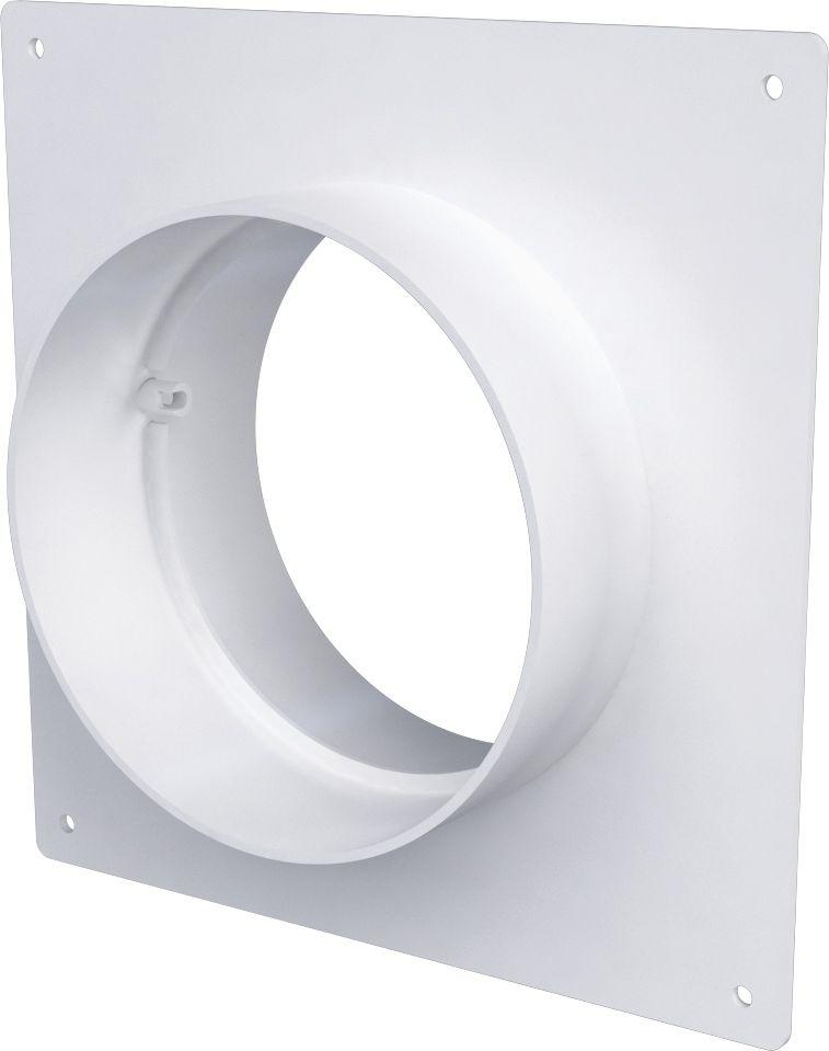 Соединительно-монтажный элемент ERA, 10SKNP, белый, с накладной пластиной соединитель для круглых каналов с клапаном и с пластиной 3531 150мм р