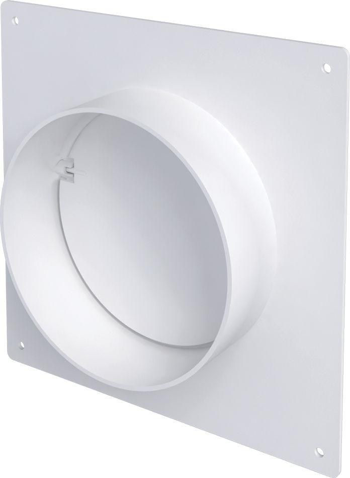 Соединительно-монтажный элемент ERA, 10SKNPO, белый, с накладной пластиной и обратным клапаном соединитель для круглых каналов с клапаном и с пластиной 3531 150мм р
