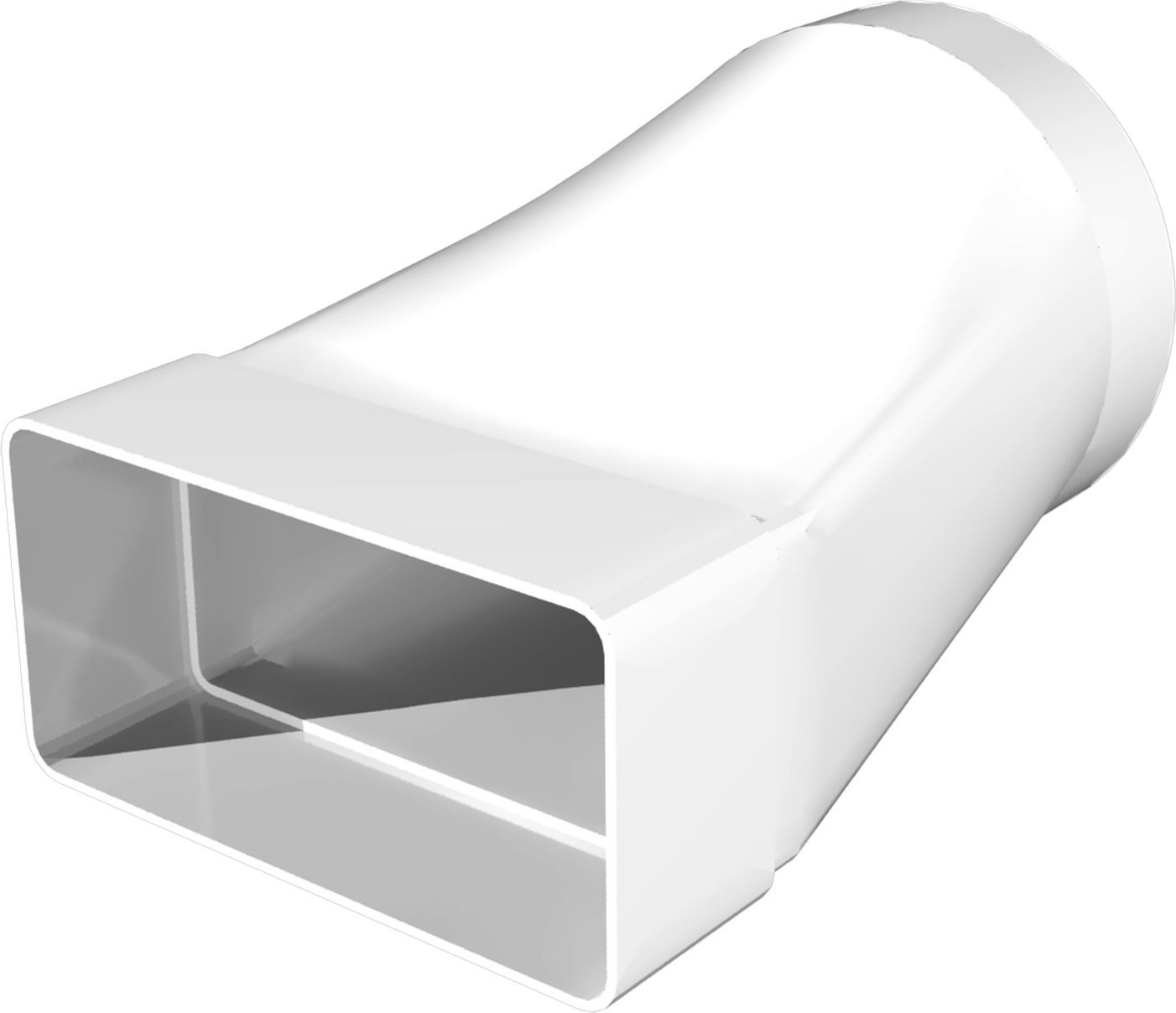 Соединительно-монтажный элемент ERA, 511СП10КП, белый, для соединения плоского воздуховода с круглым накладка торцевая пластик 150х150 для воздуховода d100